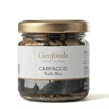 Vasaras melno trifeļu šķēlītes Carpaccio